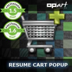 Resume Cart Popup